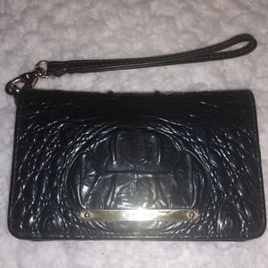 Brahmin croc-embossed wristlet wallet